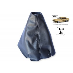 FOR FORD CAPRI MK3 1978-1986 MANUAL BLACK LEATHER GEAR GAITER WITH GREY STITCHING