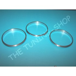 MG ZR ROVER 200 25 1996-2003 CHROME HEATER SURROUNDS TRIM RINGS BRUSHED SATIN ALLOY NEW