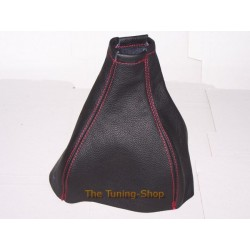 ASTRA MK4 G COUPE AUTO 98-05 GEAR GAITER LEATHER RED STITCH