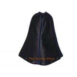 SUZUKI SWIFT 05-10 GEAR GAITER SHIFT BOOT BLACK LEATHER BLUE ST