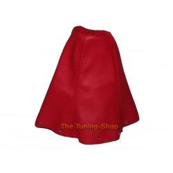 SUZUKI SWIFT 05-10 GEAR GAITER SHIFT BOOT RED LEATHER RED STITCH