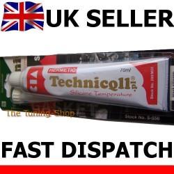 1 x 70ml BLACK HIGH TEMPERATURE SILICONE ADHESIVE SEALANT HERMETIC 300'C High Quality TECHNICQLL NEW