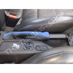 VAUXHALL OPEL CALIBRA 90-97 HANDBRAKE GAITER BLACK BLUE LEATHER