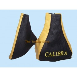 VAUXHALL OPEL CALIBRA GAITERS BLACK/YELLOW embroidery CALIBRA ye