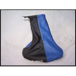 VAUXHALL OPEL CORSA B 93-00 GEAR GAITER BLACK & BLUE LEATHER