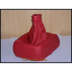 VAUXHALL OPEL CORSA B 93-00 GEAR GAITER DARK RED LEATHER