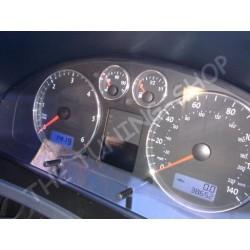 VW T5 TRANSPORTER MULTIVAN CARAVELLE VAN 03-10 ALLOY GAUGE RINGS CHROME TRIM SURROUNDS x 4 NEW