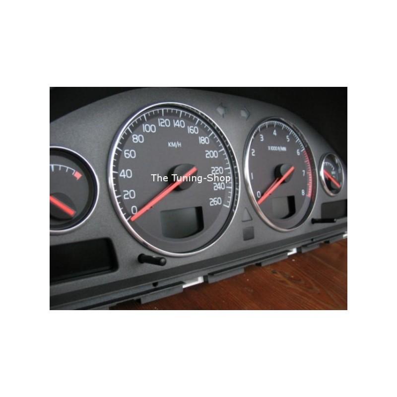 For Volvo S60 V70 S80 Xc70 Xc90 Chrome Dial Rings Gauge