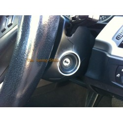 BMW E60 E61 2003-2010 1 x CHROME SURROUND TRIM RING FOR IGNITION SWITCH POLISHED ALUMINIUM new
