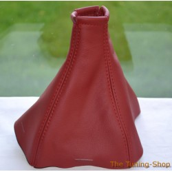 VAUXHALL OPEL VECTRA C 02-08 GEAR GAITER BURGUNDY LEATHER