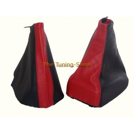 VAUXHALL OPEL ZAFIRA A 99-05 GEAR HANDBRAKE GAITER BLACK + RED