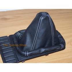 VW GOLF 2 MK2 83-91 GEAR GAITER SHIFT BOOT BLACK LEATHER WHITE S
