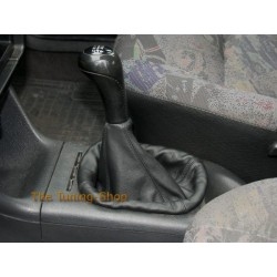 VW POLO MK3 6N 94-99 GEAR GAITER SHIFT BOOT BLACK LEATHER