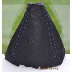 HONDA CIVIC MK8 SEDAN COUPE Si FA FD FG 06-11 GEAR GAITER SHIFT BOOT BLACK LEATHER BLUE STITCHING