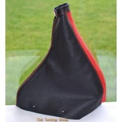 FIAT COUPE 1993-2000 HANDBRAKE GAITER BLACK+RED LEATHER