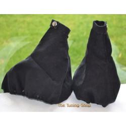 ALFA ROMEO 147 2000-2010 GEAR HANDBRAKE GAITER BLACK ALCANTARA SUEDE