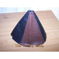 MAZDA RX-8 RX8 GEAR GAITER SHIFT BOOT BLACK / BROWN LEATHER NEW