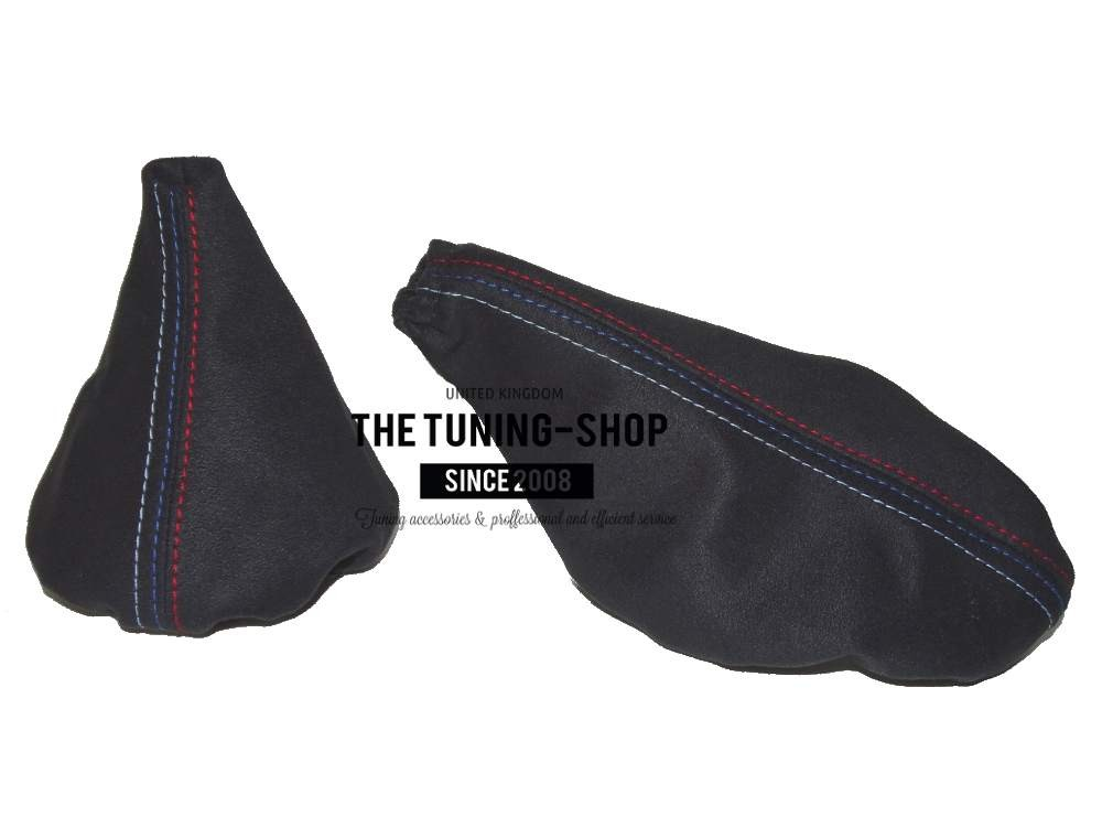 For Bmw E30 1982-91 Shift /& E brake Boot Black Genuine Leather