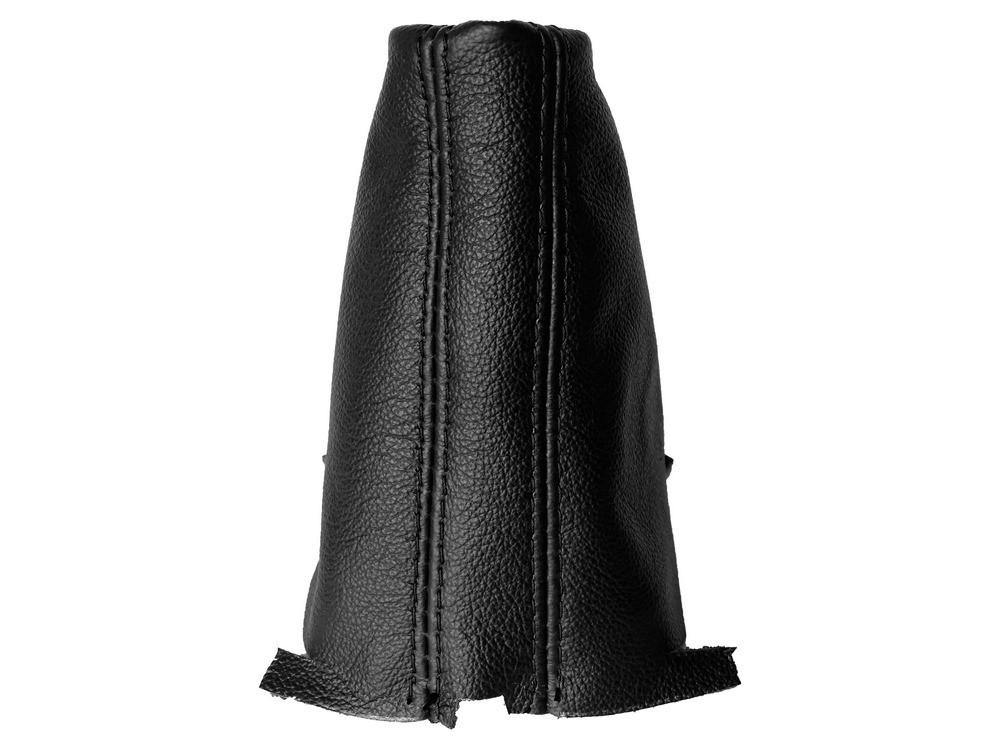 Pour VOLKSWAGEN SHARAN 2010-16 Automatique DSG GEAR GAITER CUIR Blanc couture