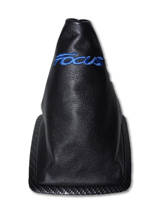 """Gear Gaiter with Plastic Frame For Ford Focus 2004-08 Leather /""""ST-line/"""" Red Logo"""