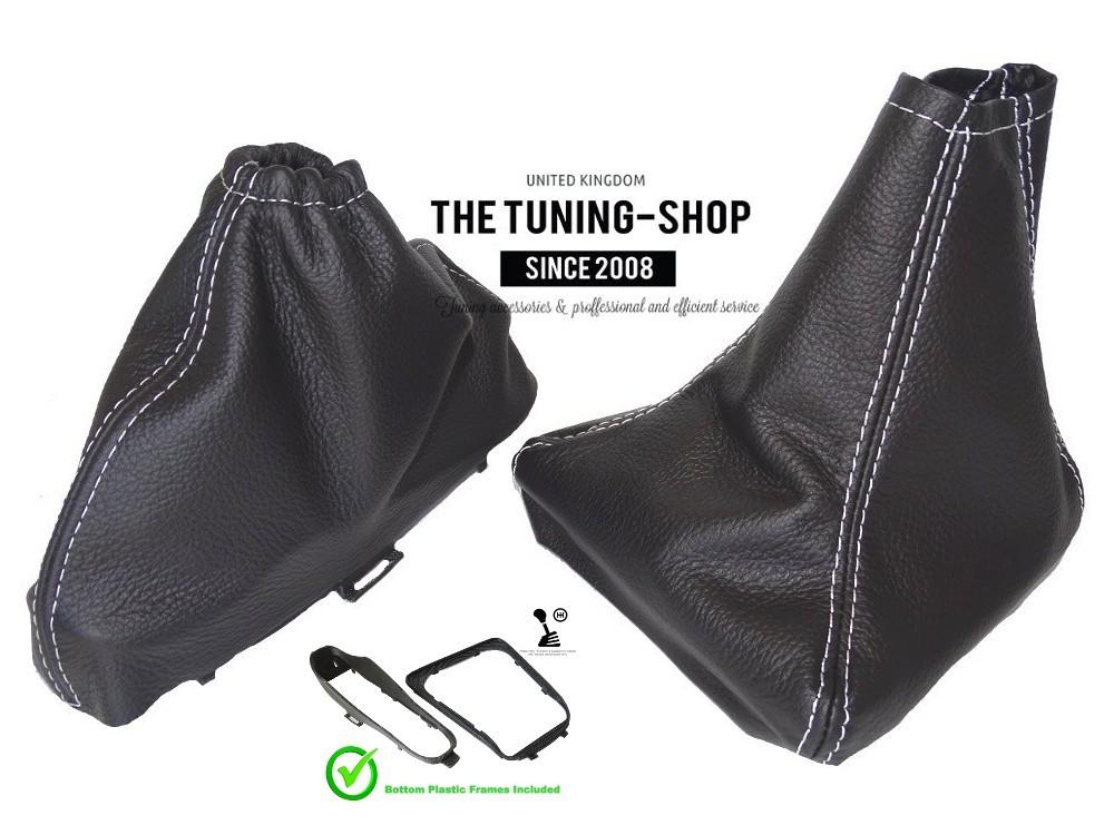 Vert coutures fits MAZDA MIATA MX5 1998-2005 CUIR gear/&handbrake cuir