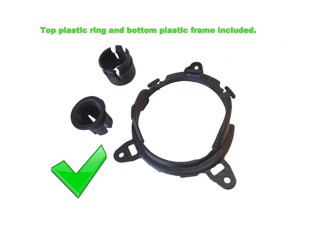 Gear gaiter cadre en plastique /& Top Bague Pour Honda Civic Type R FN2 en daim broderie