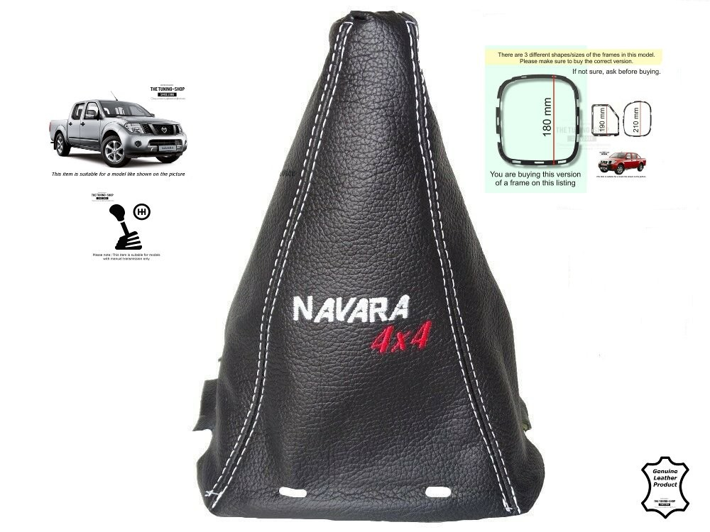 FOR ROVER 200 25 GENUINE LEATHER GEAR STICK GAITER EMBROIDERY NURBURGRING